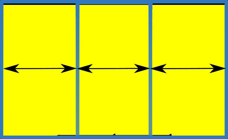 Балконная рама из ПВХ раздвижная 3 подвижные секции